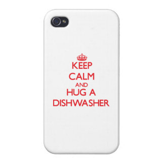 Keep Calm and Hug a Dishwasher iPhone 4 Cases