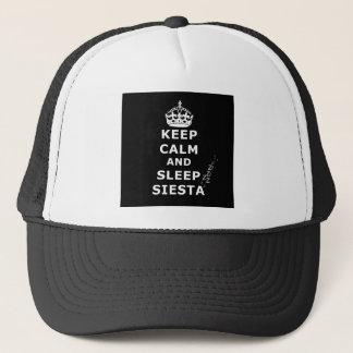 KEEP CALM AND SLEEP SIESTA TRUCKERKAPPE
