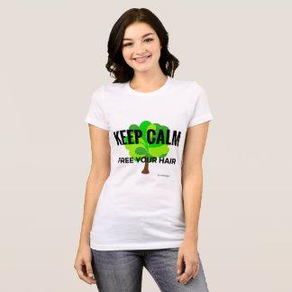 keep calm free your hair T-Shirt