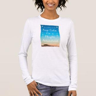 Keep Calm in the sky Langarm T-Shirt