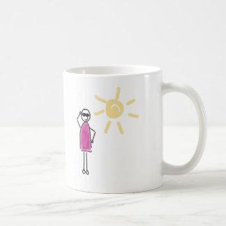 Keep cool. Die Sonne scheint! Kaffeetasse