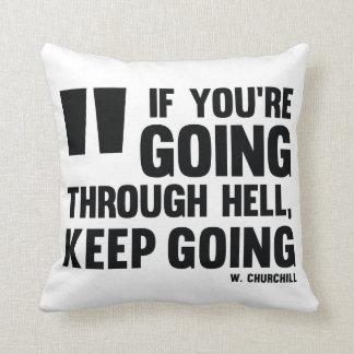 Keep Gehen! Kissen * inspiriert mit Zitat-Geschäft