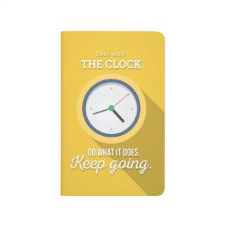 Keep Gehen passen nicht die Uhr auf sich gelb zu Taschennotizbuch