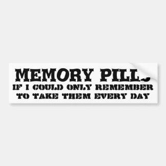 Keep meine Gedächtnispillen vergessend Autoaufkleber