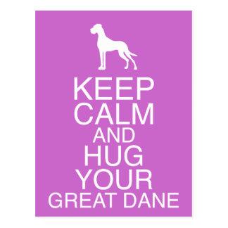 Keep On, Hug your Dane Postkarte