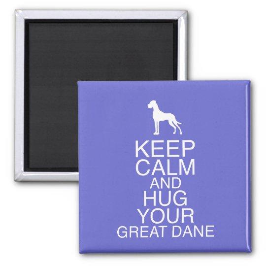 Keep On, Hug your Dane Quadratischer Magnet