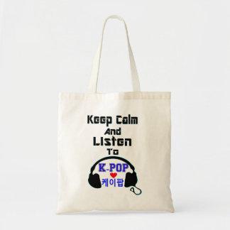 ♪♥Keep Ruhe und hören zu KPop Buget Tasche bag♥♫