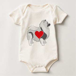 Keeshond Baby Strampler