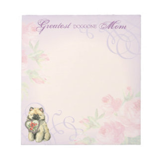 Keeshond-Herz-Mamma Notizblock