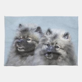 Keeshond - malende Brüder - ursprüngliche Handtuch