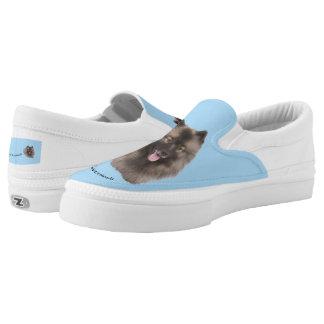 Keeshond-Plattform-Schuhe Slip-On Sneaker