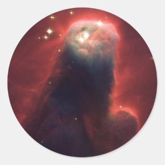 Kegel-Nebelfleck im Raum NGC 2264 Runder Aufkleber