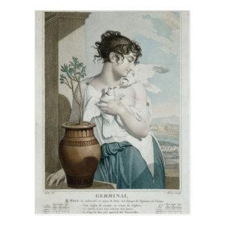 Keim-, 7. Monat des republikanischen Kalenders Postkarte