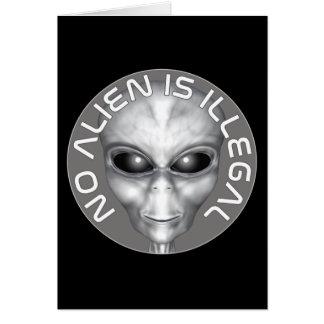 Kein alien ist illegal karte