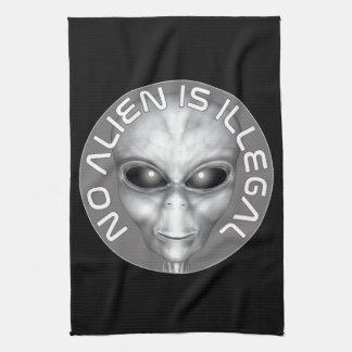 Kein alien ist illegal küchentuch