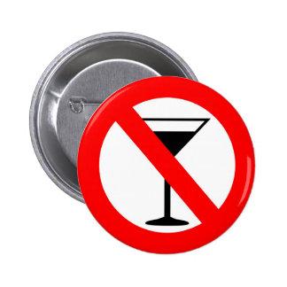 Kein Alkohol-Zeichen Anstecknadelbutton