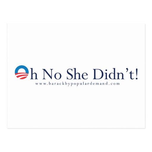 Kein Barack Obama oh tat sie nicht Postkarte… Holl