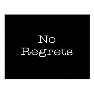 Kein Bedauern-Zitat-inspirierend Motivations-Zitat Postkarte