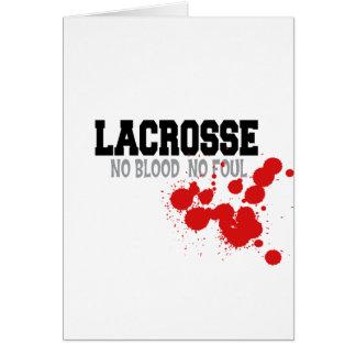 Kein Blut keine Foullacrosse-Karten Karte