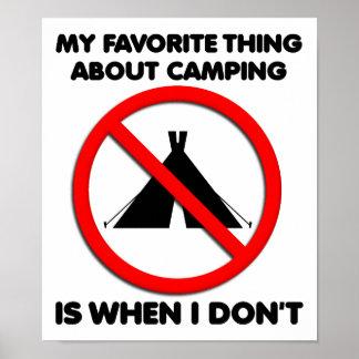 Kein Campings-lustiges Plakat
