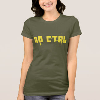 KEIN Ctrl - Gelb auf Armeegrün T-Shirt