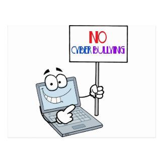 Kein Cyber-einschüchterncomputer Postkarte
