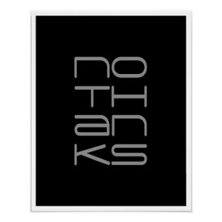 KEIN DANK Typografie-Kunst-Plakat Poster