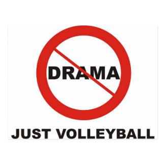 Kein Drama-gerade Volleyball Postkarte