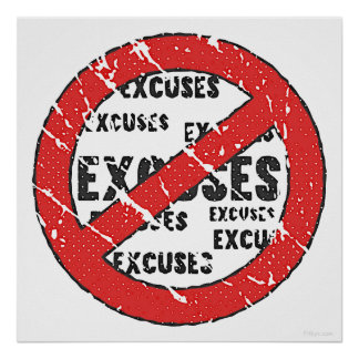 Kein Entschuldigungs-Zeichen Poster