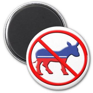 Kein Esel-politischer Magnet - Anti-Demokrat Runder Magnet 5,7 Cm