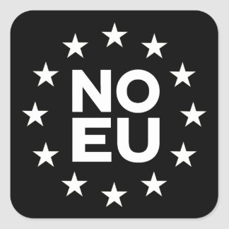 Kein EU-Aufkleber v2 umgewandelt Quadratischer Aufkleber