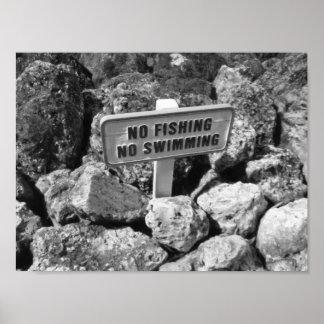 Kein Fischen keine Schwimmen schaukelt Poster