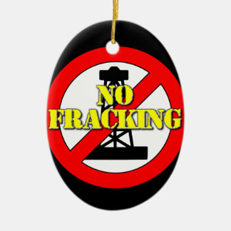 Kein Fracking Großbritannien 2 Keramik Ornament