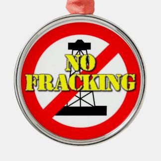 Kein Fracking Großbritannien 2 Silbernes Ornament