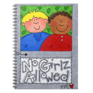 Kein Girlz erlaubtes Foto-Notizbuch (80 Seiten Spiral Notizbuch