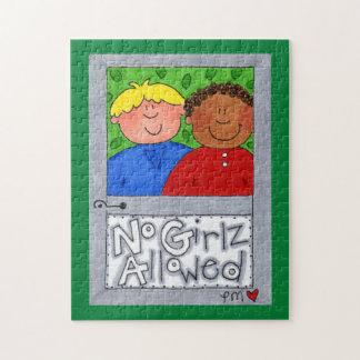 Kein Girlz erlaubtes Treehouse-Foto-Puzzlespiel + Puzzle