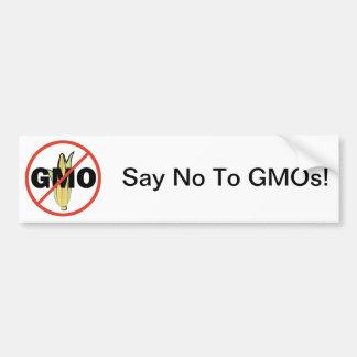 Kein GMO Autoaufkleber