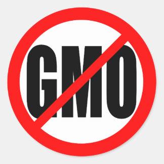 """""""KEIN GMO """" RUNDER AUFKLEBER"""
