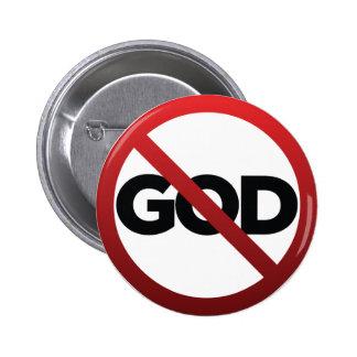 Kein Gott Anstecknadelbutton