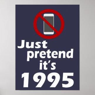 Kein Handy täuschen es ist Klassenzimmer-Plakat Poster