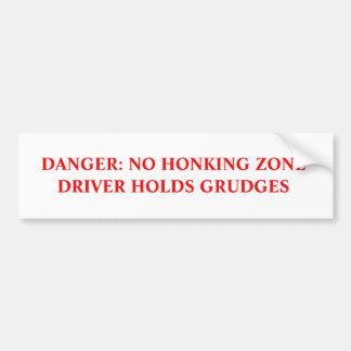 Kein Honking humorvoller Autoaufkleber