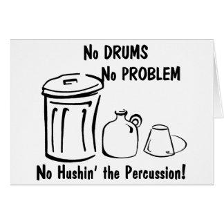 Kein Hushin das Schlagzeug Karte