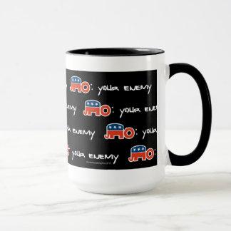 Kein (ist), Ihr feindliches (schwarzes bkgr) Tasse