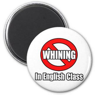 Kein Jammern in der englischen Klasse Runder Magnet 5,1 Cm