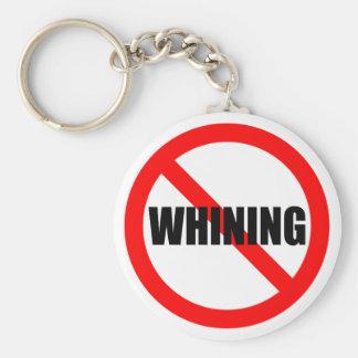 Kein jammerndes Keychain Standard Runder Schlüsselanhänger