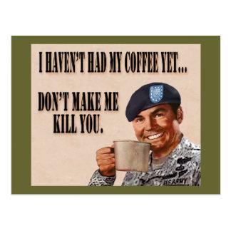 Kein Kaffee dennoch Postkarte