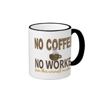 Kein Kaffee kein Workee Flugzeugmechaniker Kaffeehaferl