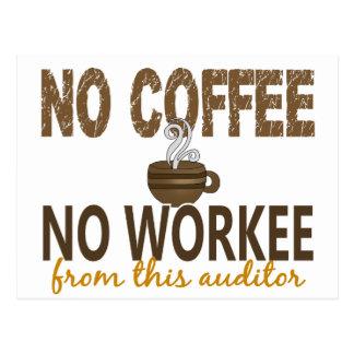 Kein Kaffee kein Workee Wirtschaftsprüfer Postkarte