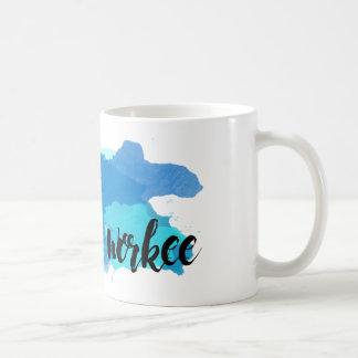 Kein Kaffee keine Workee Watercolor-Kaffee-Tasse Kaffeetasse