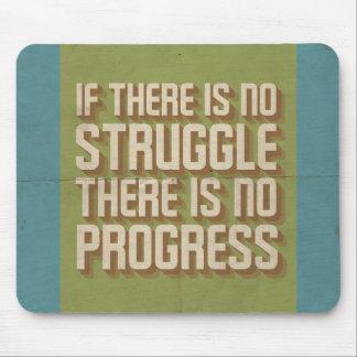 Kein Kampf kein Fortschritt motivierend Mousepad